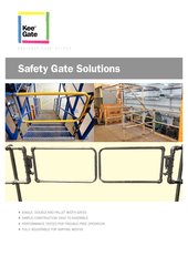 Kee Gates Brochure - incl. Double Gates + Pallet Gates thumbnail